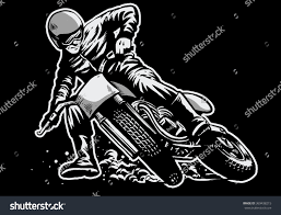 z racing motocross track hand draw man riding flat track stock vector 369438215 shutterstock