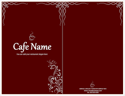cafe menu template u2013 free template downloads