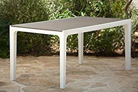 Outdoor Patio Tables Only Amazon Com Keter Harmony Indoor Outdoor Patio Dining Table With