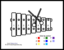 xylophone coloring page musical instruments coloring pages for