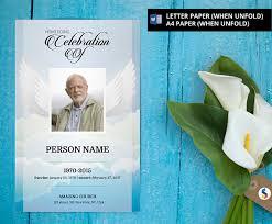 funeral bulletin template angel wing funeral program template obituary program