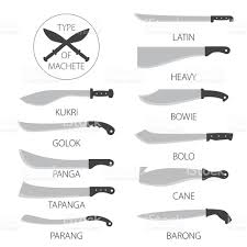 28 different types of kitchen knives click on kitchenware different types of kitchen knives types of knives machetes stock vector art 544722056 istock