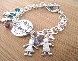 silver child charm bracelet images Child charm bracelet etsy jpg