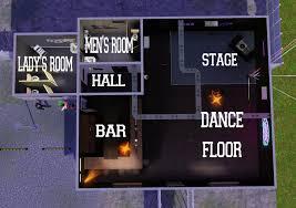 nightclub floor plan mod the sims shady s night club minimal cc