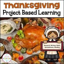 project based learning math thanksgiving reading passages and plan