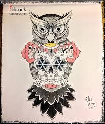 sugar skull design ellegottzi fehuink fehu ink
