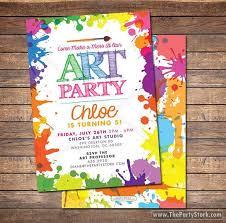 best 25 art party invitations ideas on pinterest kids art party