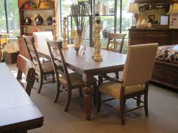 Table Round Glass Dining With Wooden Base Breakfast Nook by Dining Tables Pretty Dark Brown Leather Parsons Chairs With