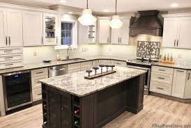 two tone kitchen cabinets and island morrison illinois kitchen remodel home stores