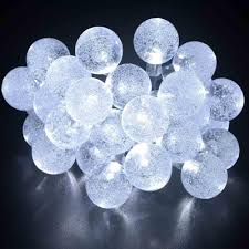 Outdoor Fairy Lights Solar by Solar Outdoor String Lights 20ft 30 Led Crystal Ball Solar Powered