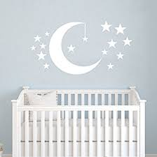 Wall Nursery Decals Moon And Wall Decals Baby Room Nursery Clouds