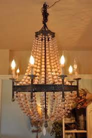 Home Decor Light by Decor Astonishing Diy Home Decor Beaded Chandelier In Beige Wood