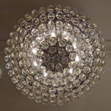 Chandelier With Crystal Balls Large And Beautiful Christoph Palme Flush Mount Chandelier With