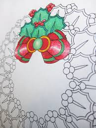 holly wreath mandala candyhippie coloring pages