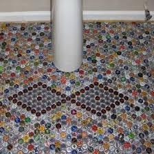 diy bathroom flooring ideas suelo diy con chapas de botella pisos diy flooring