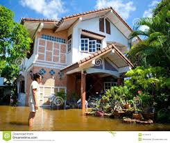 Thailand Home Design Flood Waters Overtake House In Thailand Editorial Image Image