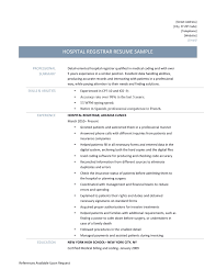 objective for medical billing and coding resume hospital registrar template and job description great resume registrar template for any new job seekers