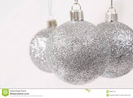 silver glitter ornaments stock photos image 3892743