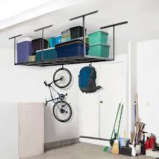 amazon com fleximounts 4x8 overhead garage rack with add on hooks amazon com fleximounts 4x8 overhead garage rack with add on hooks set heavy duty height adjustable ceiling racks 22 40