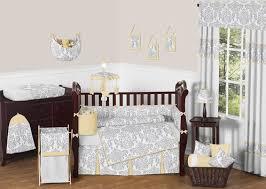 Gray And Yellow Crib Bedding Yellow And Gray Avery Baby Bedding 9pc Crib Set By Sweet Jojo