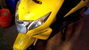 yellow color honda dio yellow color youtube