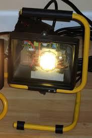 500w halogen work light to 100w led work light diy conversion