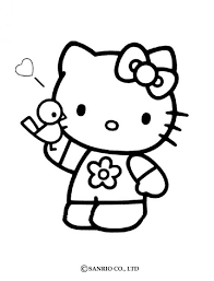 kitty portrait coloring pages hellokids