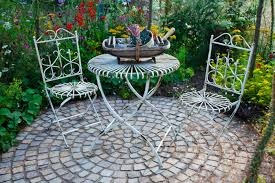 White Patio Furniture Set - cobblestone patios home design ideas and pictures