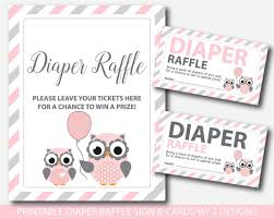 pink owl baby shower invitations owl diaper raffle inserts owl baby shower raffle printable baby