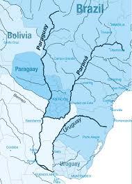 parana river map south america