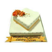2 tier square birthday cake just cakes
