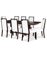 belaire white 9 piece dining room furniture set furniture macy u0027s