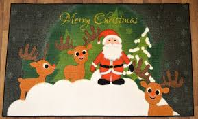 Christmas Rug Amazon Com Christmas Doormat Non Slip Rectangular 24