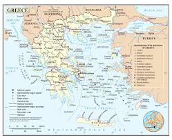 Italy Greece Map by Maps Of Greece Detailed Map Of Greece In English Tourist Map