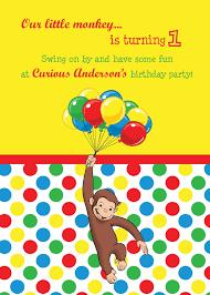 free curious george birthday invitations templates u2014 anouk invitations