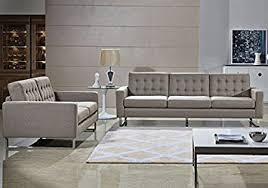 Amazoncom Angela Grey Fabric Modern Sofa And Loveseat Set Gray - Fabric modern sofa