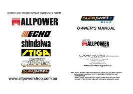 supaswift blue 777 user manual by allpower issuu