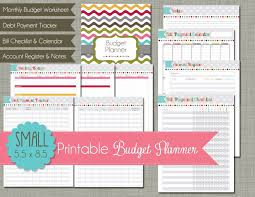 monthly budget planner template the polka dot posie planner pages and the health fitness planner in large small or x small