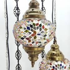 Mosaic Chandelier Turkish Turkish Moroccan Tiffany Hanging Glass Mosaic Chandelier Lamp Light