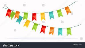colorful garland celebration detail design element stock vector