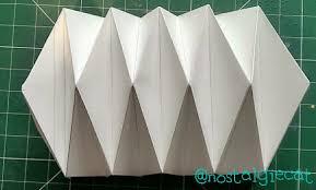 suspension origami diy nostalgiecat diy origami paper lampshade