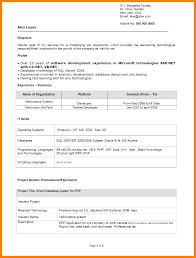 Asp Net Sample Resume by Sample Resume For Freshers Engineers Download Free Resume
