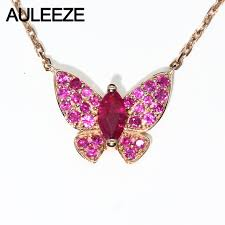pink ruby necklace images Unique butterfly design sunny girl necklace pendant marquise cut jpg