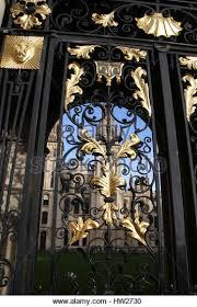 wrought iron ornamental gate stock photos wrought iron