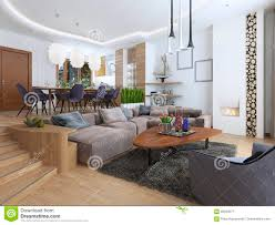 Loft Modern by Modern Living Room In A Loft Style Stock Photo Image 69043577
