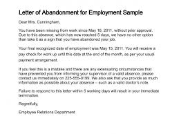 letter of abandonment