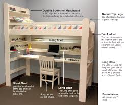 College Desk Accessories Loft Bed U0026 Bunk Bed Accessories Desk Bookshelf Headboard Clothes