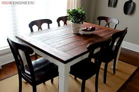diy farmhouse table free endearing diy dining room table plans