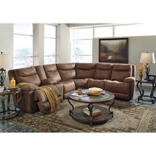 power reclining sectional with storage console by signature design