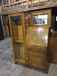 Gun Cabinet Heater Antique Oak Side By Side Secretary Desk Gun Cabinet Secretary